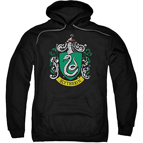 Trevco Harry Potter Slytherin Crest Adult Pull Over Hoodie Black