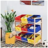 Toy Bin Organizer Kids Childrens Storage Box Playroom Bedroom Shelf Drawer