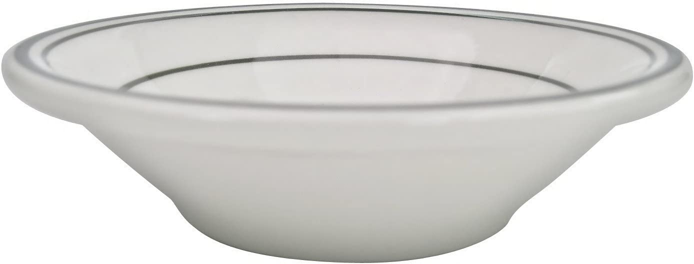 Box of 36 CAC China GS-32 4-1//2-Inch Greenbrier 3.5-Ounce Green Band Stoneware Fruit Bowl American White