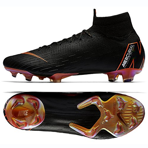 Nike Superfly 6 Elite FG Mens Football Boots AH7365 Soccer Cleats (UK 8.5 US 9.5 EU 43, Black Total Orange White 081)