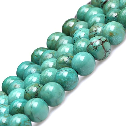 Old Turquoise Beads for Jewelry Making Gemstone Semi Precious 8mm Round Green 15