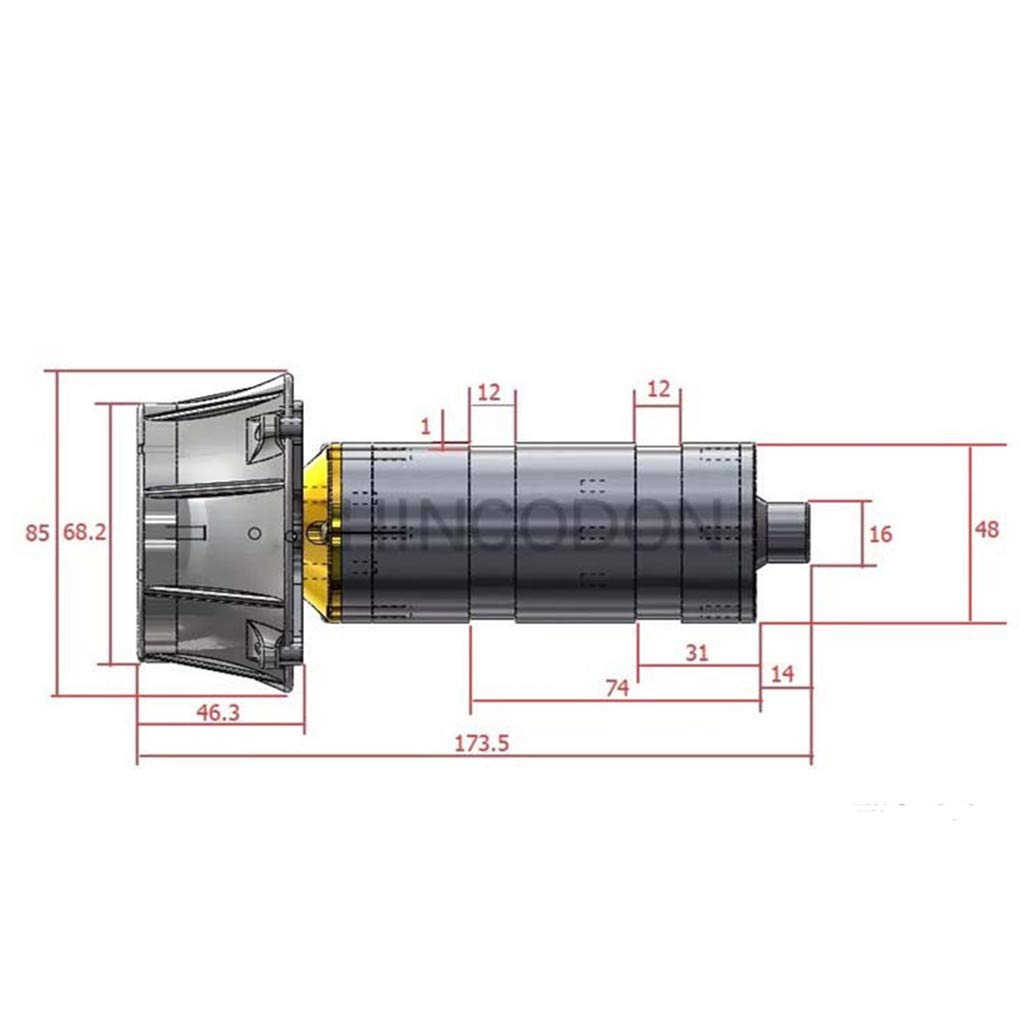 Celiy RCD-MI50 Thrust 5KG Underwater 200M 24V Oil Sealed Thruster Propulsor (As Show) by Celiy (Image #3)