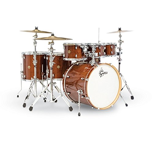 Gretsch Maple Drum (Gretsch (CM1E826PWG) 2014 Catalina Maple 7-Piece Rock Shell Pack and 22 Inch Kick with Free Additional 8 Inch Tom - Walnut Claze)
