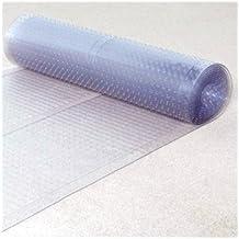 "Ottomanson Multi Grip Ribbed Runner Rug Carpet Protector Mat, 72"" x 26"", Clear"