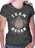 Team Negan T-Shirt – The Saviors Walking Zombies Dead LeRage Shirts WOMEN'S Charcoal Medium