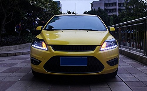 GOWE Car Styling for Ford Focus Headlights 2009-2013 Focus 2 LED Headlight DRL Bi Xenon Lens High Low Beam Parking Fog Lamp Color Temperature:8000k;Wattage:55w 0