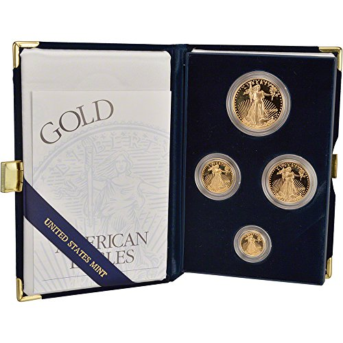 2000 W American Gold Eagle Proof 4-Coin Year Set -