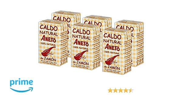 Aneto 100% Natural - Caldo de Jamón - caja de 6 unidades de 1 ...