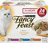 Fancy Feast Wet Cat Food, Grilled Variety Pack 85 g Cans (24 pack)
