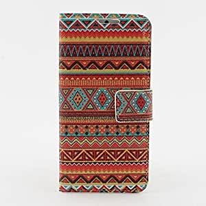 GX Orange Tribal Pattern PU Leather Case with Stand and Card Slot for iPhone 6