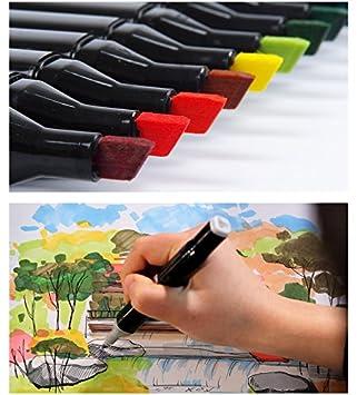 Mengma Nero Doppia Marcatori largo e punta fine Tip Graphic pennarello 60 colori per il design con Nero Bagi 60 colori per Interior Design