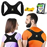 Back Posture Corrector for Women and Men - Upper Back Brace Clavicle Support Device for Thoracic Kyphosis and Shoulder - Neck Pain Relief - FDA Approved (A300, Regular)