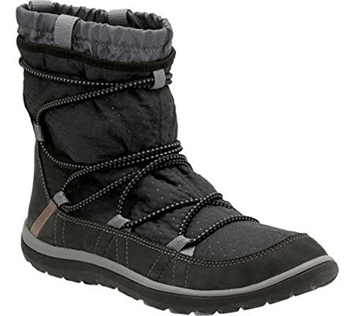 Clarks Aria US Boot 9 M Ankle Synthetic Frost Black Women's r5wqRr