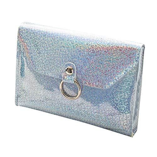 Borsa Donna ASHOP Borsa Tracolla a Catena Mini Laser per Donna Borsa a Tracolla Bag Borse Donna Grigio