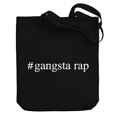 Teeburon Gangsta Rap Hashtag Canvas Tote Bag