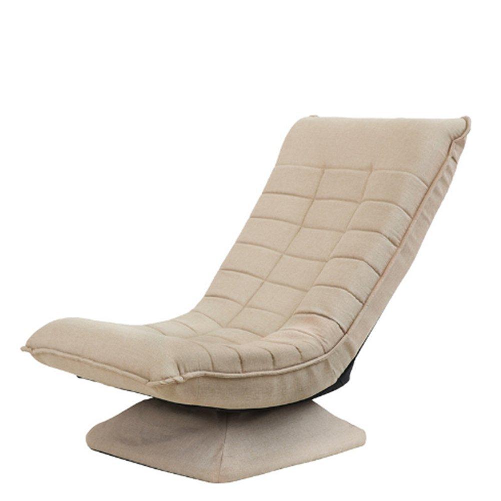 SAKEY 座椅子 パーソナルチェア フロアチェア コンパクト 低反発ウレタン 回転式 ふあふあ くつろぎ (カーキ) B07D6RGKK9 カーキ カーキ