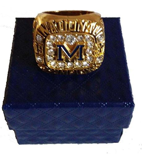 YIYICOOL 1997 Michigan Wolverines championship Ring custom Size 11 (Michigan Ring Mens)