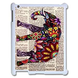 LSQDIY(R) elephant pattern iPad2,3,4 Plastic Case, Personalised iPad2,3,4 Case elephant pattern