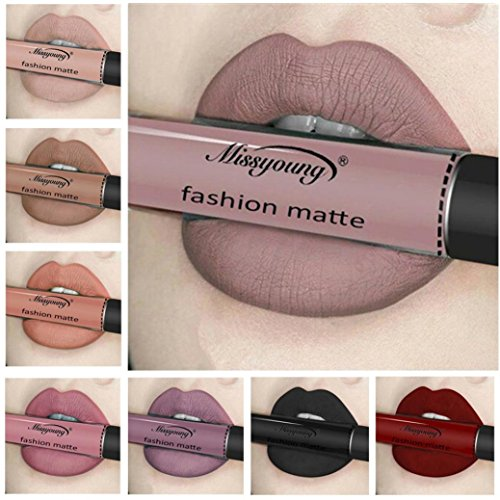 Women Professional Make-up Lip Glosses Colorful Lipstick Long-lasting Red Wine for Girls by TOPUNDER C