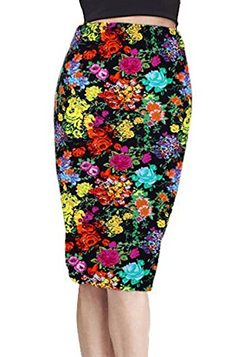 Les Semelles Des Motifs Floraux Bodycon Jupe Crayon Floral3