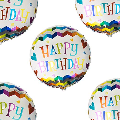 Happy Birthday Mylar Balloons 18 Foil Heliun Party Balloons, Pack of 20