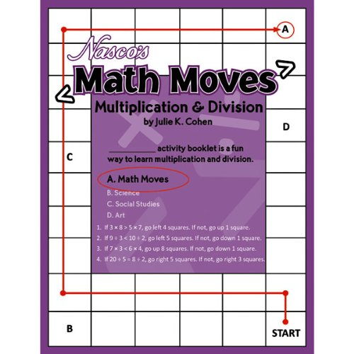 NASCO TB24606T Math Moves Multiplication & Division, 36-P...