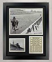 "Secretariat 1973 Triple Crown Winner Collectible   Framed Photo Collage Wall Art Decor - 12""x15""   L"