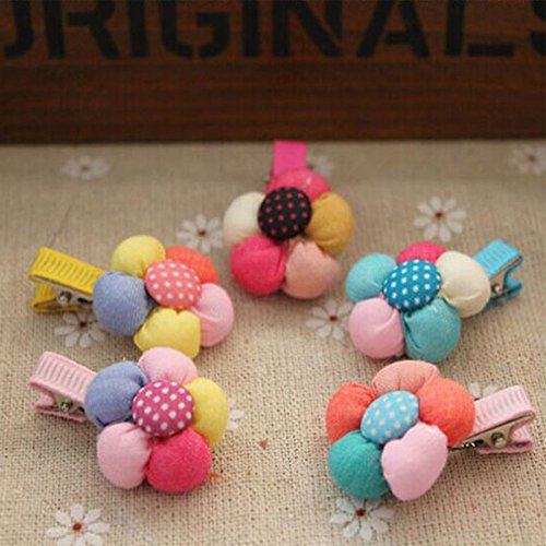 Exquisite 2 PCS New Arrival Kid Candy Color hairpins for Baby Cute Flower (Galaxy Electric Comb)