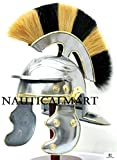 NAUTICALMART Medieval Roman Centurion Officer Helmet With Multi-Color Plume Halloween Helmet