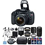 Canon EOS Rebel T5 Digital Camera EF-S 18-55mm f/3.5-5.6 IS II Lens & Canon EF 75-300mm f/4-5.6 III Lens Full Bundle