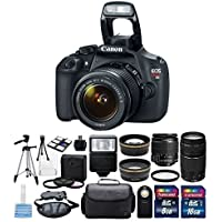 Canon EOS Rebel T5 Digital Camera EF-S 18-55mm f/3.5-5.6 IS II Zoom Lens & Canon EF 75-300mm f/4-5.6 III Lens + 58mm 2.2X Lens + 58mm + Camera Flash + 3 Piece 58mm Filter Kit + 8 & 16 GB Memory Card Advantages Review Image