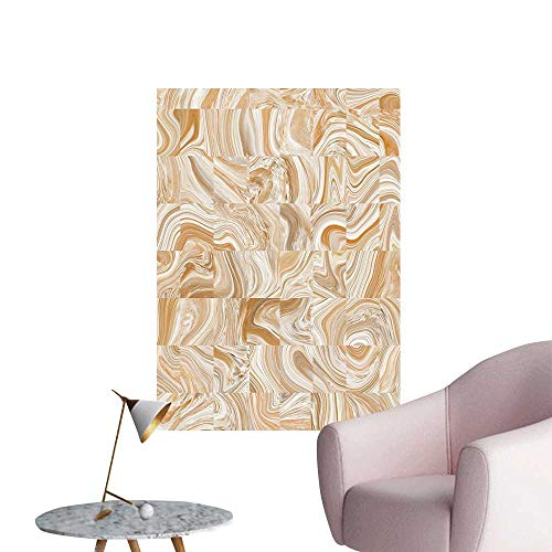Wall Decals St Patterns Irregular Dimensi Tan Cream Environmental Protection Vinyl,24
