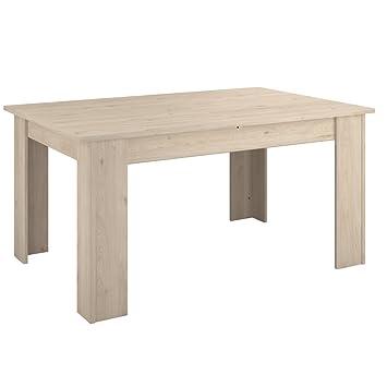 INFINIKIT Holly Table avec rallonge Effet Chêne clair: Amazon.fr ...