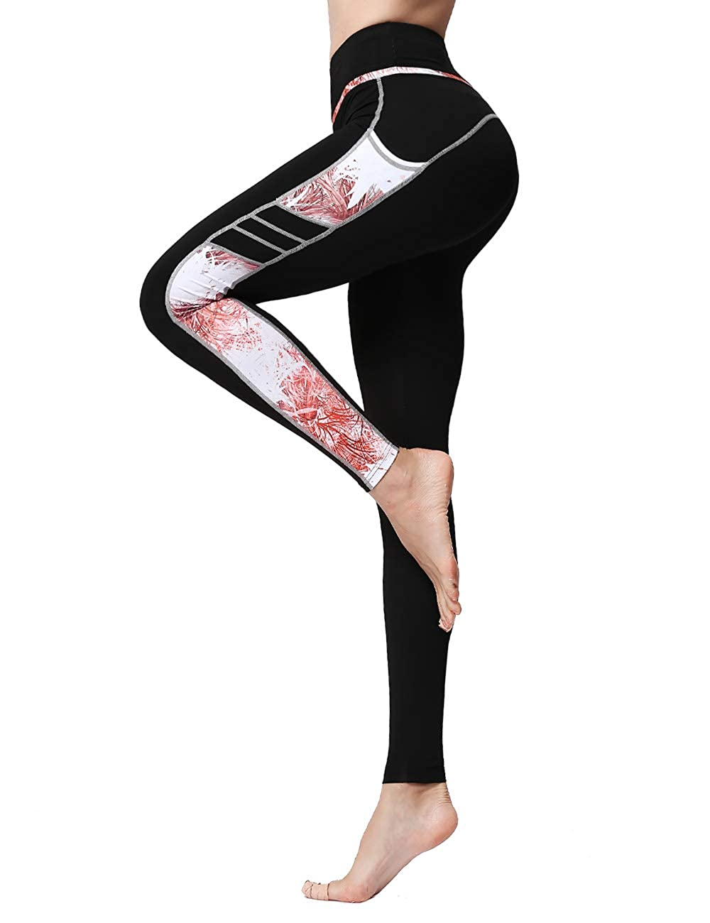 KSEERBABALL Womens High Waist Yoga Pants Tummy Control Workout Running Pants Legging Full-Length Pants with Pocket