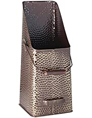 Kamino - Flam 333070 Antieke Kolen Hod Scuttle Emmer met 2 handgrepen, Messing, 20 x 20 x 50 cm
