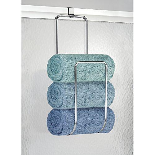 B01AYN963O. MetroD cor   mDesign Over the Door Towel Holder for Bathroom