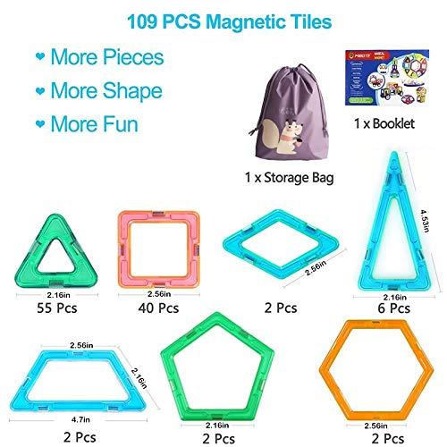 JohnCalbe 109pcs Big Size Magnetic Designer Blocks Plastic Building & Construction Toys Magnetic Tiles Set Educational Toys for Children by JohnCalbe (Image #6)