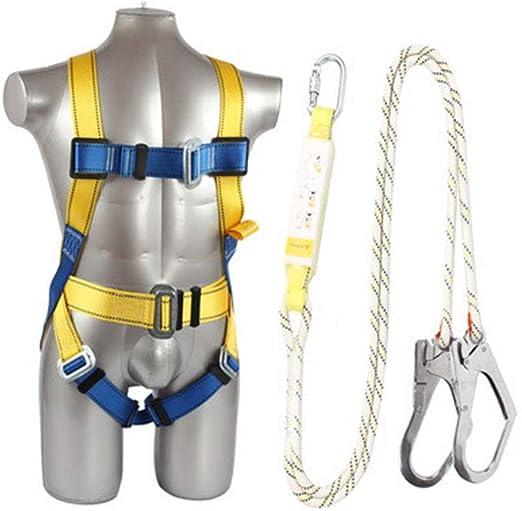 Q&Z Arnés de Seguridad de Altura de Cuerpo Completo con cinturón ...