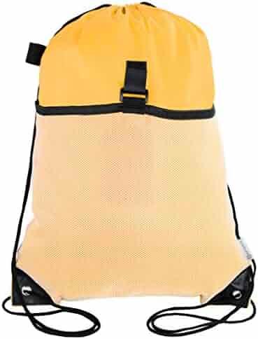 be0c3fb247da Mato   Hash Drawstring Cinch Bag Backpack With Mesh Pocket Tote Sack