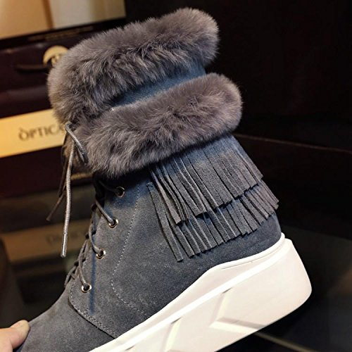 increase boots one 160cm 's fur Women 90 plus rounded warm snow bottom invisible thick NSXZ nUXBzFx