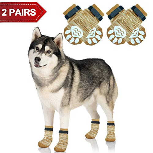 PUPTECK Anti-Slip Dog Socks