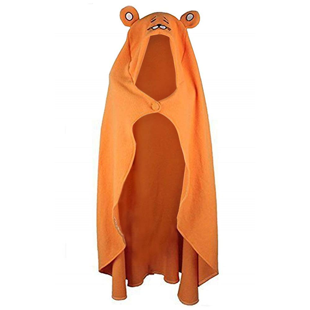 Himoto/Himouto! Umaru-chan Cape Cosplay Costume Outfit Flannel Hoodie Blanket Quilt Coat Cloak 62in Orange, Medium