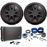 (2) Kicker 43CVR154 COMPVR 15 2000 Watt Car Subwoofers+Mono Amplifier+Amp Kit