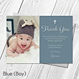 Personalised Christening Baptism Naming Day Thank You Cards | Photo Girl or Boy