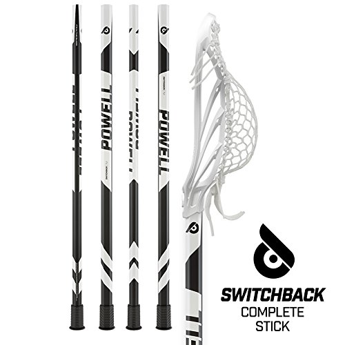 Powell Lacrosse Switchback Complete Stick for Attack/Midfield with Head & Shaft
