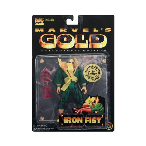 "Iron Fist 7"" Action Figure Marvel Gold Collector's Edition"