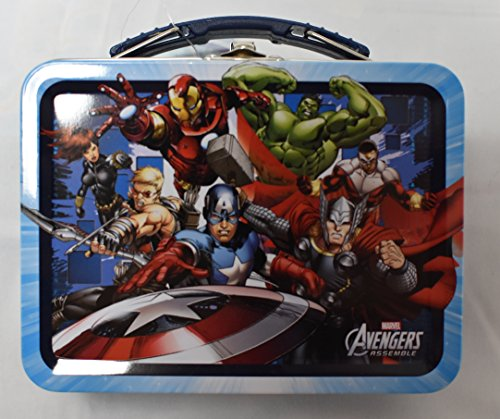 (Marvel Avengers Assemble Metal Lunch Box, Size: 5-1/2