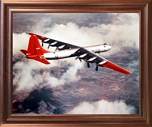 Impact Posters Gallery US Airforce B-36 Heavy Bomber Plane Military Aircraft Wall Decor Mahogany Framed Picture Art Print (Air Force Aircraft Photos)