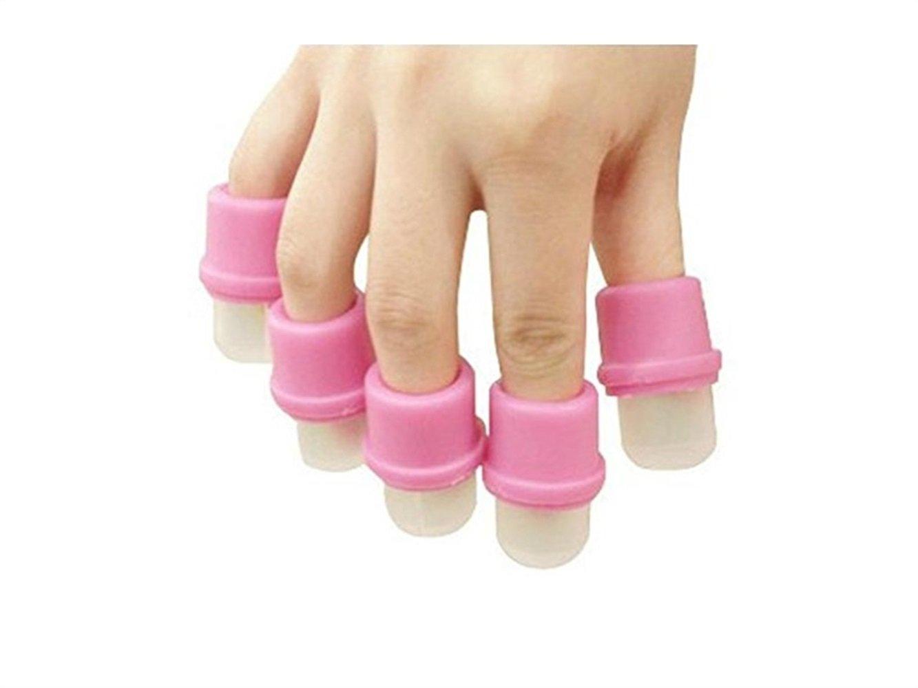 LMKIJN Juego de removedor de uñas PCS Remover Conjunto de Dedos Juego de uñas Especial Remover Herramienta para uñas (Rosa): Amazon.es: Hogar