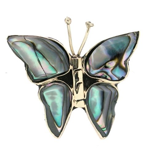 274840151 Amazon.com: Global Crafts Alpaca Silver Abalone Butterfly Pin - Artisana  Jewelry: Brooches And Pins: Jewelry